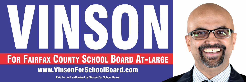 Vinson Palathingal - Fairfax County School Board Election Candidate 2019 November 5th
